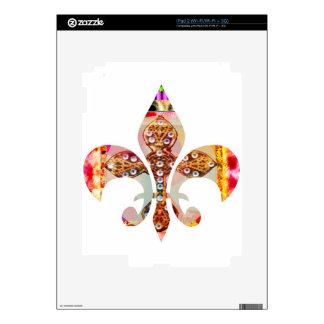 Fleur de lis Jewel Pattern Flowers Floral Gems fun Decals For iPad 2