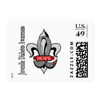 Fleur De Lis Juvenile Diabetes Hope Postage Stamp