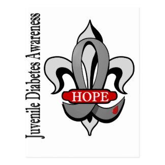 Fleur De Lis Juvenile Diabetes Hope Postcard