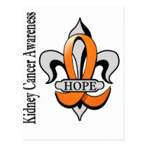 Fleur De Lis Kidney Cancer Hope Postcard