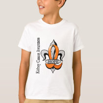 Fleur De Lis Kidney Cancer Hope T-Shirt