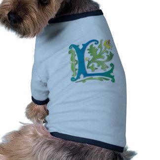 Fleur-de-lis L Monogram Doggie Tee Shirt
