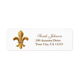 Fleur-de-lis Custom Return Address Labels