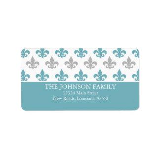 Fleur de Lis Custom Address Label