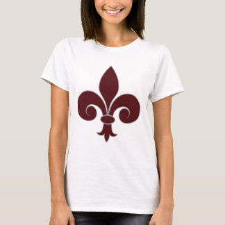 Fleur-De-Lis Ladies Baby Doll (Fitted) T-Shirt