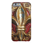 Fleur de-lis leather look case iPhone 6 case