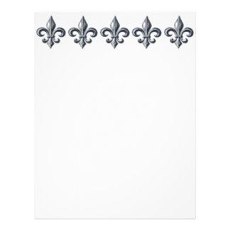 Fleur de lis letterhead stationery