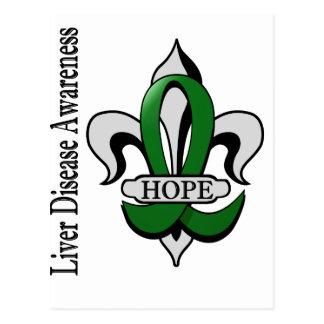 Fleur De Lis Liver Disease Hope Postcard
