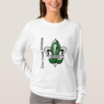 Fleur De Lis Liver Disease Hope T-Shirt