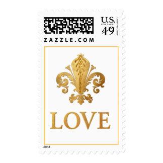 Fleur-de-lis Love Postage Stamps