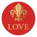 Fleur-de-lis Love sticker