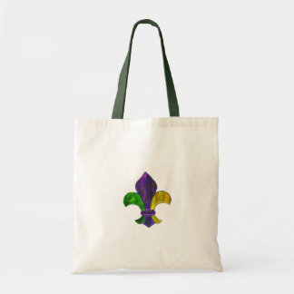 Fleur De Lis Mardi Gra add text Budget Tote Bag