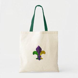 Fleur De Lis Mardi Gra add text Tote Bag