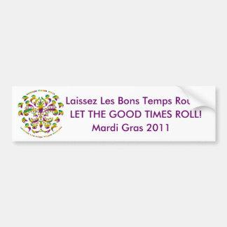 Fleur de lis Mardi Gras 2011 V-1 Car Bumper Sticker