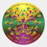 Fleur de lis Mardi Gras 2011 V-1 Classic Round Sticker