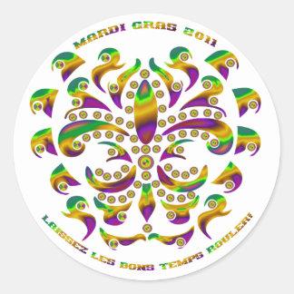 Fleur de lis Mardi Gras 2011 V-1 Sticker