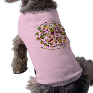 fleur de lis Mardi-Gras 2011 V-2 Dog Tee Shirt