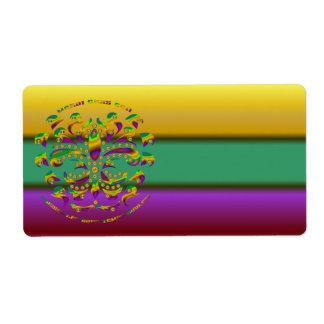 Fleur de lis Mardi-Gras 2011 V-2 Personalized Shipping Label