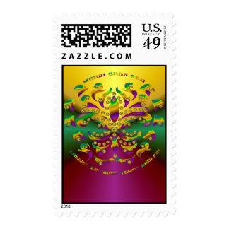 Fleur de lis Mardi-Gras 2011 V-2 Stamp