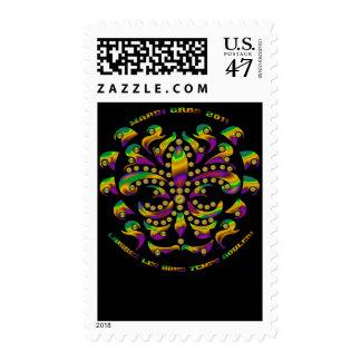 Fleur de lis Mardi-Gras 2011 V-2 Postage Stamp