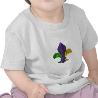 Fleur De Lis Mardi Gras New Orleans Jewel Sparkle Tee Shirt