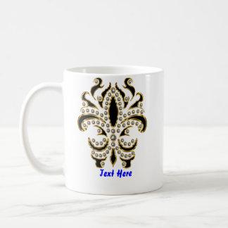 fleur de lis Mardi Gras Please View Notes Coffee Mug