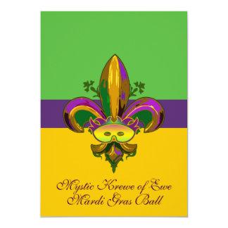 Fleur de lis Mask 5x7 Paper Invitation Card