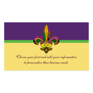 Fleur de lis Mask Double-Sided Standard Business Cards (Pack Of 100)