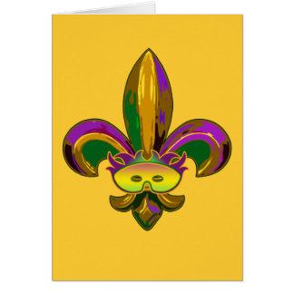 Fleur de lis Mask Greeting Cards
