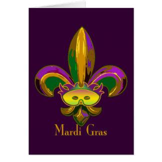 Fleur de lis Mask Cards