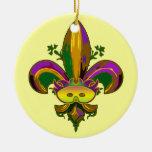 Fleur de lis Mask Christmas Ornament