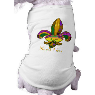 Fleur de lis Mask Dog Shirt