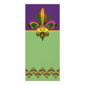 Fleur de lis Mask Rack Card
