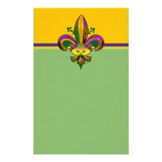 Fleur de lis Mask Personalized Stationery
