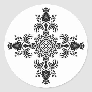 Fleur de lis Meditation 4 corners Stickers