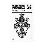 Fleur de lis Meditation Postage Stamp