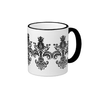 Fleur de lis Meditation Ringer Coffee Mug