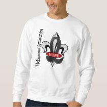 Fleur De Lis Melanoma Hope Sweatshirt