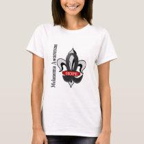 Fleur De Lis Melanoma Hope T-Shirt