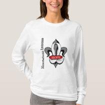 Fleur De Lis Mesothelioma Hope T-Shirt