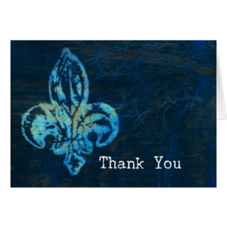 Fleur-de-lis Mixed Media Thank You Card