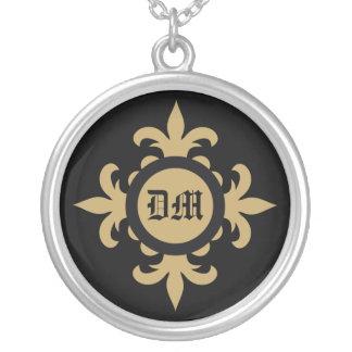 Fleur de lis monogram custom necklace
