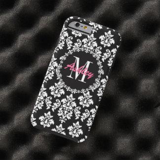 Fleur de Lis Monogram Damask Pattern Tough iPhone 6 Case