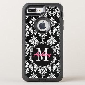 Fleur de Lis Monogram Damask Pattern OtterBox Defender iPhone 7 Plus Case