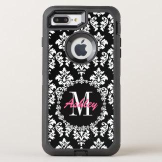 Fleur de Lis Monogram Damask Pattern OtterBox Defender iPhone 7 Plus Case