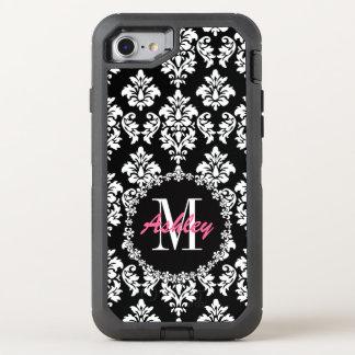 Fleur de Lis Monogram Damask Pattern OtterBox Defender iPhone 8/7 Case