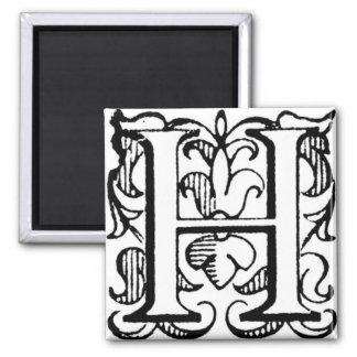 Fleur de Lis Monogram 'H' - Magnet