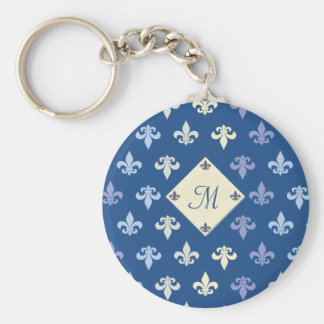 Fleur de Lis - monogram Keychain