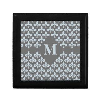 Fleur-De-Lis monogrammed gift box, customize Keepsake Box