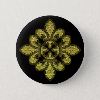 Fleur de lis Mosaic Art Button